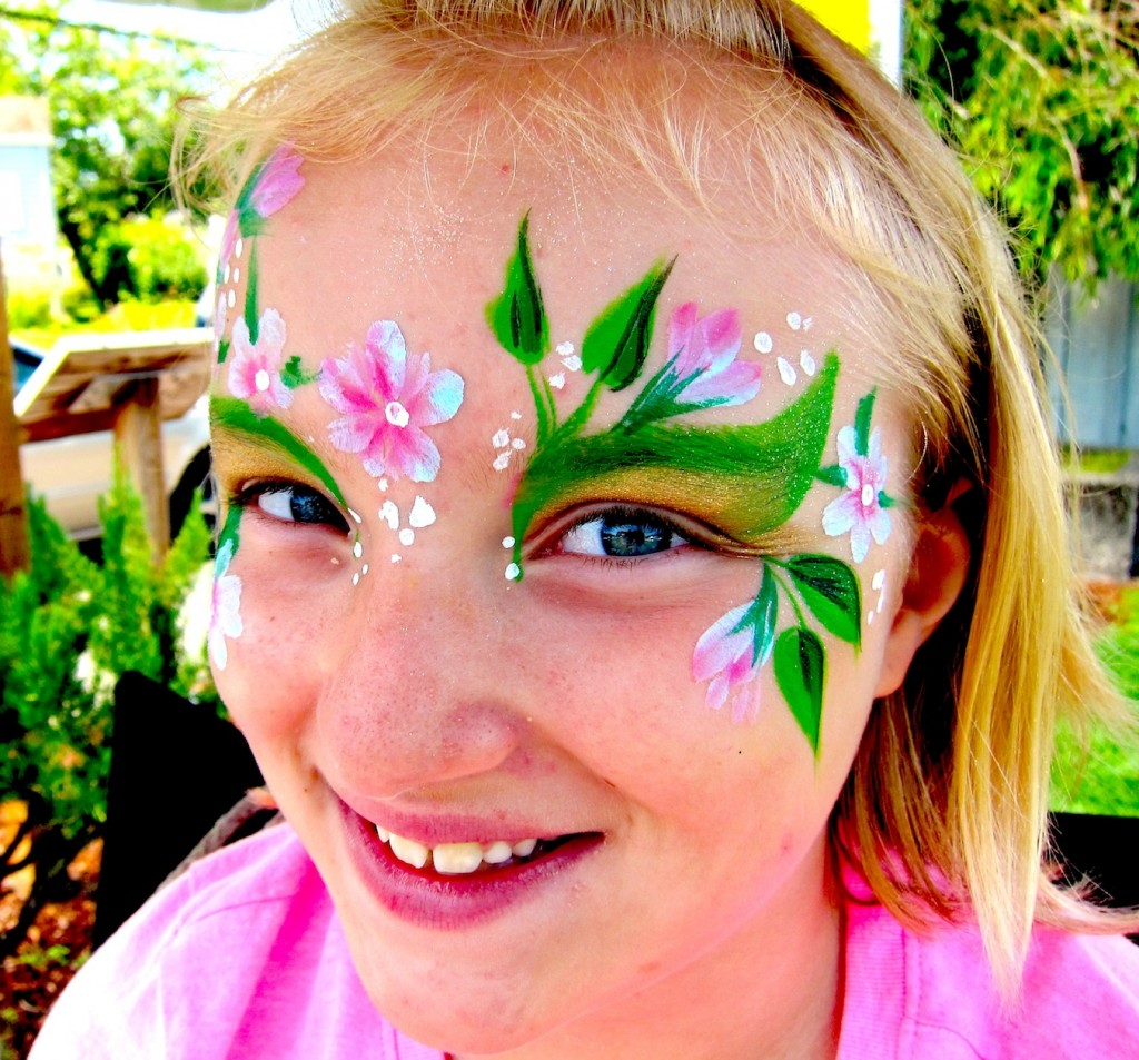 Colorful Flowers Painting Face Paint Flower